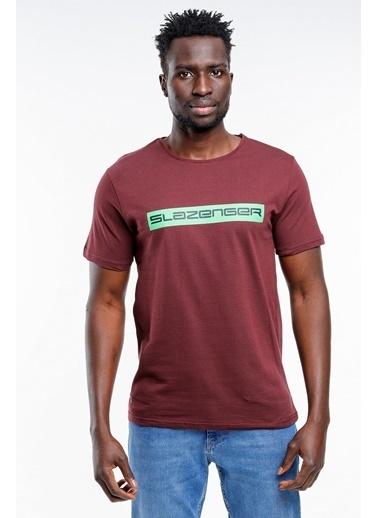 Slazenger Slazenger BATTLE Erkek T-Shirt Pudra Bordo